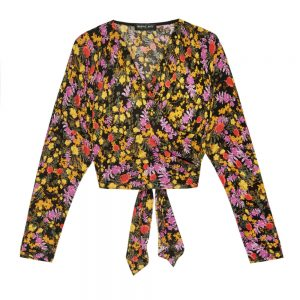 Fuchsia Floral Winged Blouse