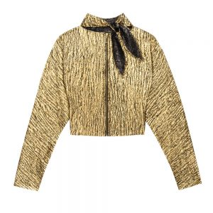 Gold Reversible Zip Up Blouse