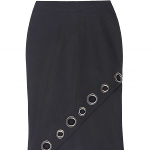 Asymmetrical Grommet Skirt