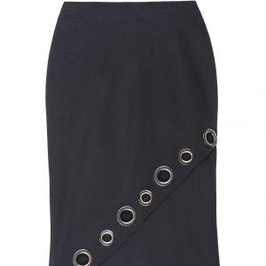 Asymmetrical Grommet Skirt